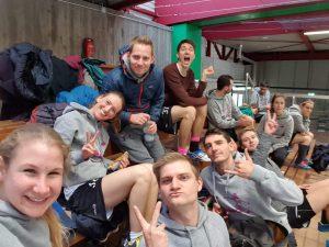 Mixed-Team auf der DM Indoor, Augsburg 2018
