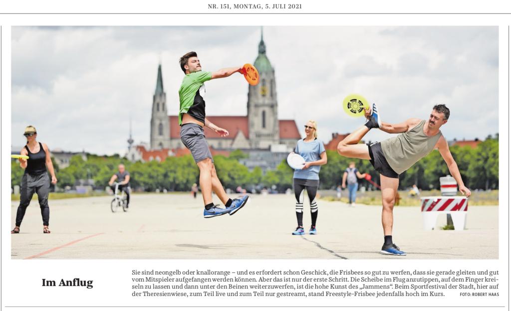 Die Freestyle-Abteilung des SFB in der Stadtviertelausgabe Zentrum der Süddeutschen Zeitung